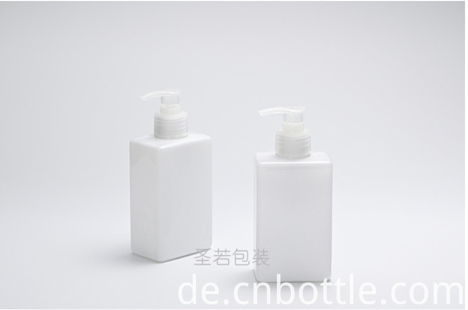 square cosmetic PET lotion bottle