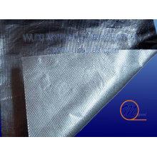 Tela de aluminio ignífugo de la fibra de vidrio con el acoplamiento