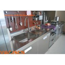 Armoire de cuisine en gros en acier inoxydable avec tiroirs