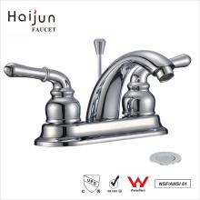 Haijun Factory Price Modern 3 Hole Dual Handle torneira do misturador da bacia do banheiro