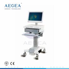 AG-WT006 aluminium matériel hauteur réglage hôpital mobile ordinateur station de travail panier