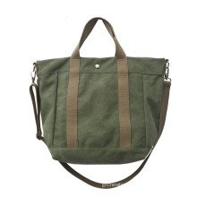 BSCI Factory New Design ECO Friendly Cotton Canvas Fabric Women Hand Style Shoulder Bags Hand bag