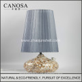 Canosa ECO-Friendly chinese seashell table lamp with ceramics pedestal