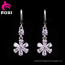 Flower Ladies Gold Plating Chandelier Earrings