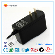 US listed 12 V DC 1 amp digital photo frame power adapter