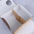 Caja de almuerzo de papel de comida para llevar impresa con logotipo personalizado Precio al por mayor Cajas de aguilón de papel de picnic de Brown