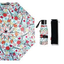 Very Small Travel Sun Rain Windproof Compact Tote Mini 5 Folding Umbrella