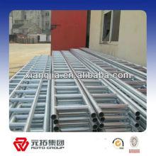 viga de escalera de andamio galvanizado para sistema de tubería y abrazadera