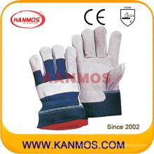 Rojo abrigo de invierno caliente invierno guantes de trabajo de seguridad (11301)