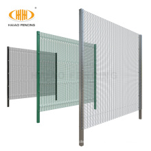 Factory supply steel welded 358 mesh high security fence panels with razor barbed wire