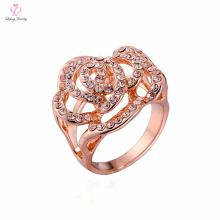 Dubai Light Weight Einstellung ohne Stein Krone Gold Ring, 1 2 3 Gramm Design Phantasie Blume Form Rose Gold Ring