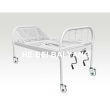 A-137 All-Plastic-Sprayed Double-Function Manual Hospital Bed