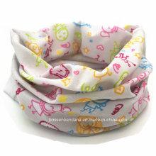 Promotional Custom design Printing Kids Polyester Elastic Seamless Headwear