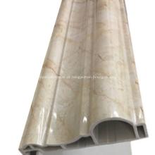 Linha de pedra artificial de plástico Retro Strip Frame da porta