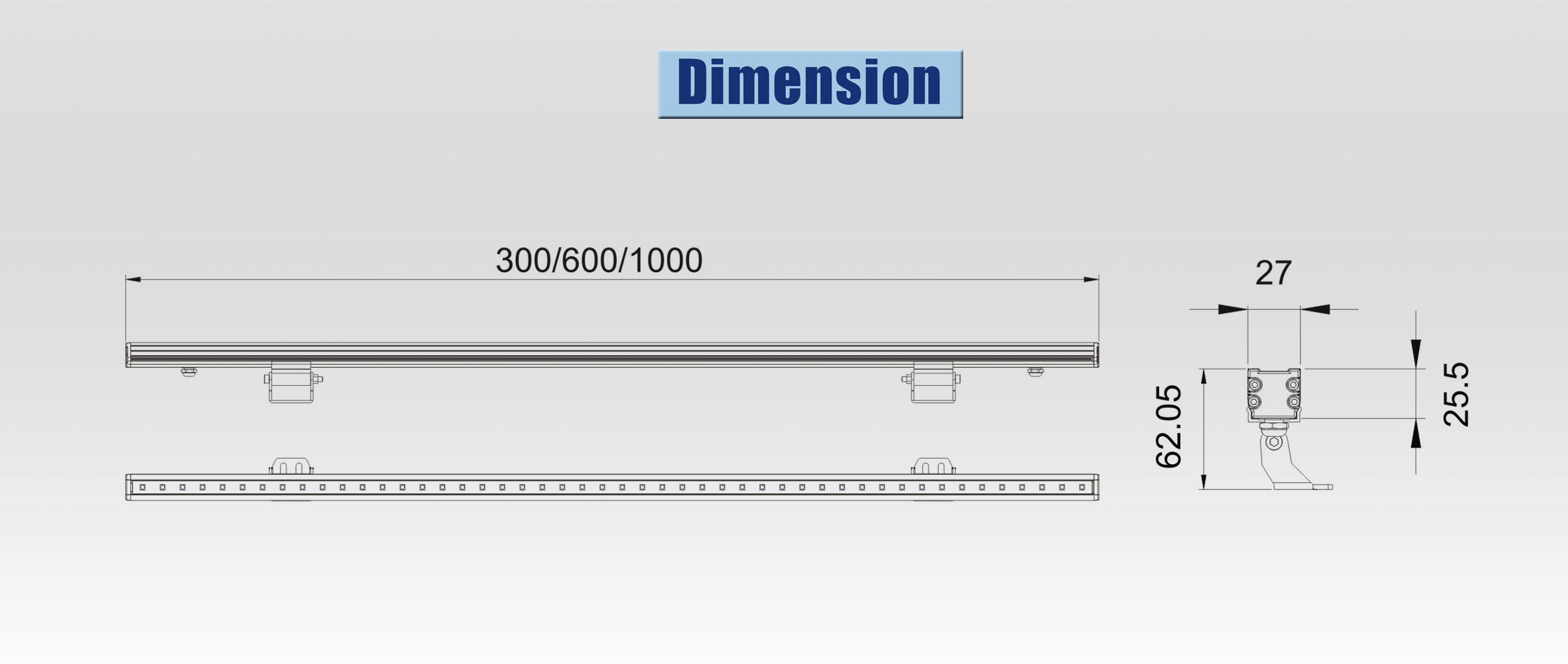 led linear light Dimension