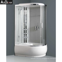 Aokeliya Amazon UK Fully Moulded Shower Cubicles with Black Panel and Trays