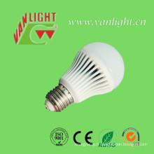 5W E27/B22 couvercle en plastique en aluminium LED lampe ampoule