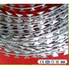 Alambre galvanizado sumergido caliente de la cinta de púas de la navaja de la concertina (BTO-22)