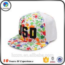 Flat brim snapback cap hat