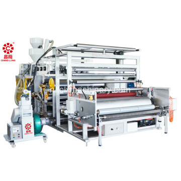 Drie lagen co-extrusie rekfoliemachine