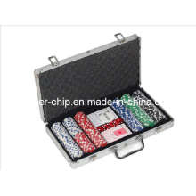 300PCS Poker Chip Set in Round Corner Aluminum Case (SY-S16)
