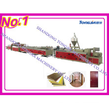 PVC and Wood Mixed Extruder Machine for Making WPC Door Panel