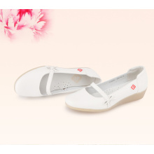 Soft genuine leather doctors and nurses shoes with heels