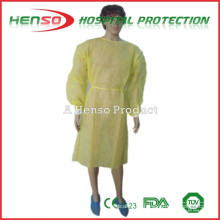 Vestido de isolamento amarelo descartable HENSO