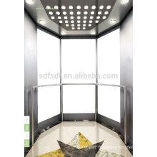 Ascenseur d'observation / ascenseur de tourisme / prix ascenseur en verre avec salle des machines de la technologie japonaise