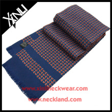 16MM Twill Silk Scarf Men in Blue Paisley Scarf Silk Men's
