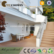 China cheap timber plastic wood outside decking balcony