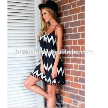 Long Dress Chiffon New Style Women Tie Waist Chiffon Dress Summer For Wholesale