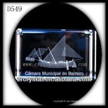 Imagen subsuperficial láser K9 3D Rectángulo interior de cristal