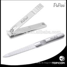 Präzise und scharfe Klinge aus 100% chirurgischem Edelstahl-Nagelknipser