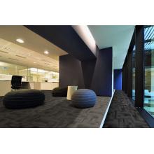 Нейлоновые офисные ковровые плитки с ПВХ-основой