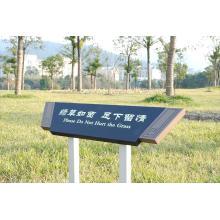 Warnung Rasen Aluminium Display Zeichen Zeichen stehen