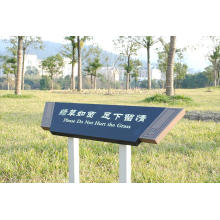Warning Lawn Aluminum Display Sign Sign Stand