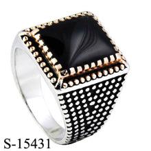 Hotsale 925 Bijoux en pierres précieuses en argent avec anneau d'agate.