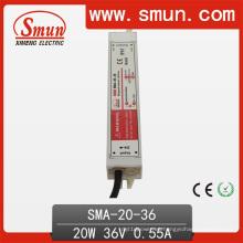 Fuente de alimentación constante de la prenda impermeable del conductor de la corriente LED de 20W 18-36VDC