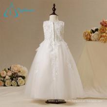 Nuevo diseño formal de fotos reales Servicio de OEM Flor Girl Dresses