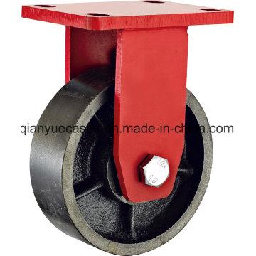 América Modelo Kingpin Menos extra Heavy Duty Rigid Caster, Iron Wheel