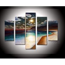 Pintura al óleo hecha a mano del paisaje marino del arte de la lona de la alta calidad en la lona (SE-187)
