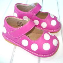 Pink mit weißen Tupfen Kleinkind Mädchen Quietschen Schuhe