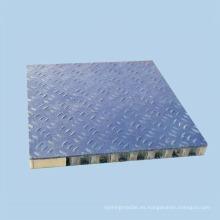 Paneles de panal de aluminio antideslizante para pisos