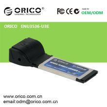 USB 3.0 + eSATA (PM) Tarjeta Express para Laptop34mm / 54mm