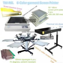 Máquina de impressão de tela t-shirt de 6 cores TM-R6k