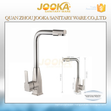 Brushed finished nickle surface kitchen faucet