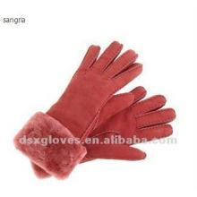 Меховые перчатки из манжеты с холодной погодой