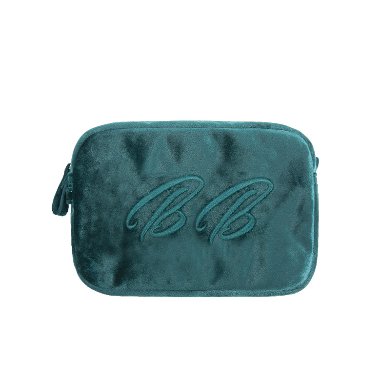 Velvet Cosmetic Pouch Makeup Bags
