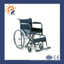 Silla de ruedas manual de acero